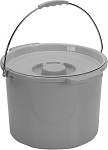 Commode Bucket with Metal Handle and Cover 12 Quart (1/Each)