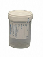 General Purpose Specimen Container  Polypropylene / Polyethylene Screw-On 4 oz. / 120 cc Sterile (75/Pack)