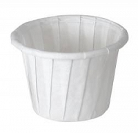 Souffle Portion Cup 1 oz White Treated Paper (5000/Case)
