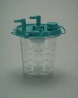 Suction Canister Hi-Flow 1200 mL Self Sealing Lid (12/pack)