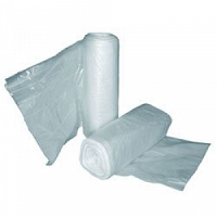HD Can Liner Rolls 7-10 Gallon 24 in X 24 in Clear (1/Case)