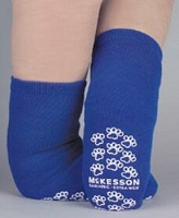 Slipper Socks  XXXL Bariatric Extra Wide Royal Blue Above the Ankle (1/Pr)