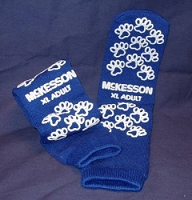 Slipper Socks  Adult X-Large  Above the Ankle (1/Pr)