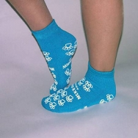 Slipper Socks Teal Above the Ankle (1/Pr)