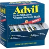 Advil, Ibuprofen Tablets, 200 mg Pain Reliever/Fever Reducer (NSAID) 50 packets of 2 coated Tablets Each