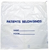 Patients Belongings Bag With Drawstring White 20
