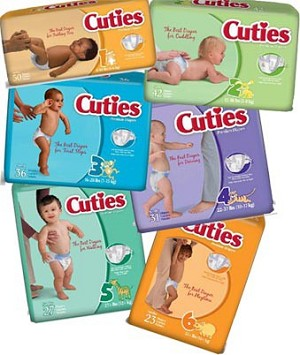 Cuties Disposable Baby Diapers - Case
