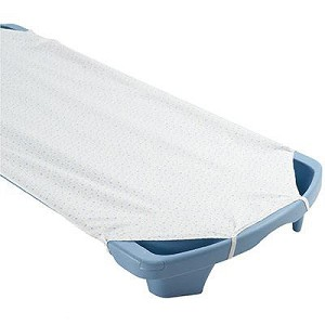 "Angels Rest Standard Cot Sheet  White 22.5"" x 50.5"""