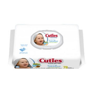 Cuties Baby Wipes 6.7 X 7.7 Inch CASE (12/Case)