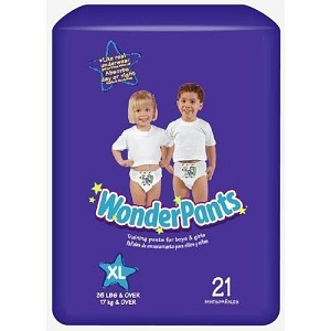 Wonder Pants, Youth Training Pants, 4T - 5T, X-Large 4 Bags of 21 Each per Case (84/Case)