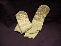 Slipper Socks  Adult 2 X-Large Gray Above the Ankle (1/Pr)